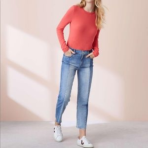 Anthropologie Lou& Grey Seamed Cropped Jeans